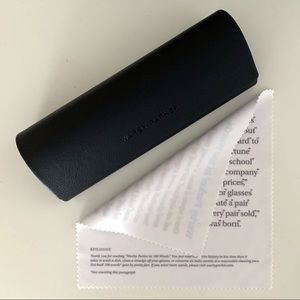 Warby Parker Sunglasses Case and Cloth